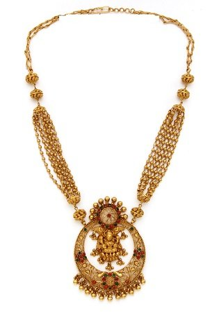 22K Gold Traditional Necklaces for Women - Indian Gold ... - photo #32
