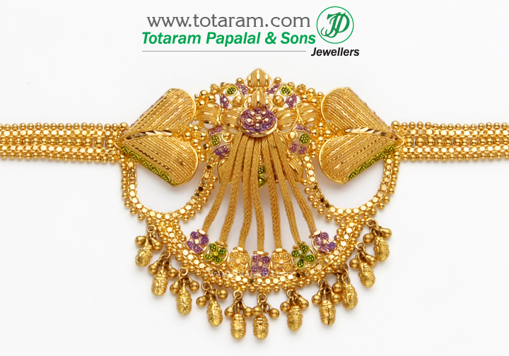 22K Gold Upper Arm Bracelet 235ARMV111 in 41000 Grams