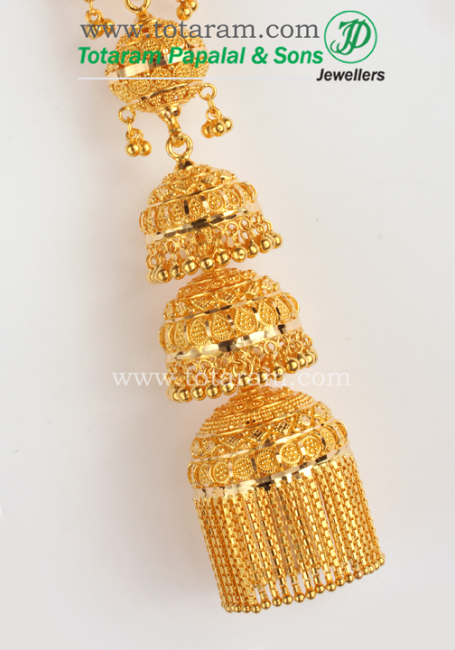 22 Karat Gold Jhumkas - Gold Chandelier Earrings - 235-GJH113 in ...