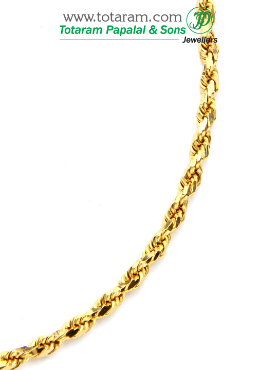 21k Gold Chain In Length 24 5 Inches