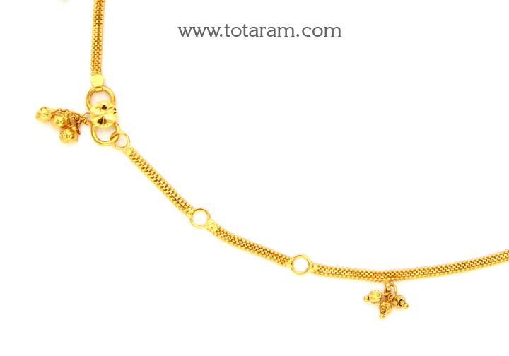 22K Gold Baby Waist Chain 235 GMT006 in 15 800 Grams