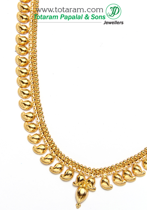 22k gold 39 mango 39 long necklace gn683 for 22k gold jewelry usa
