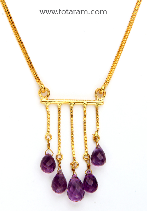 22k gold necklace earrings set with beads 235 gs2812 for 22k gold jewelry usa